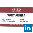 Christian Herb's Profile on Staff Me Up