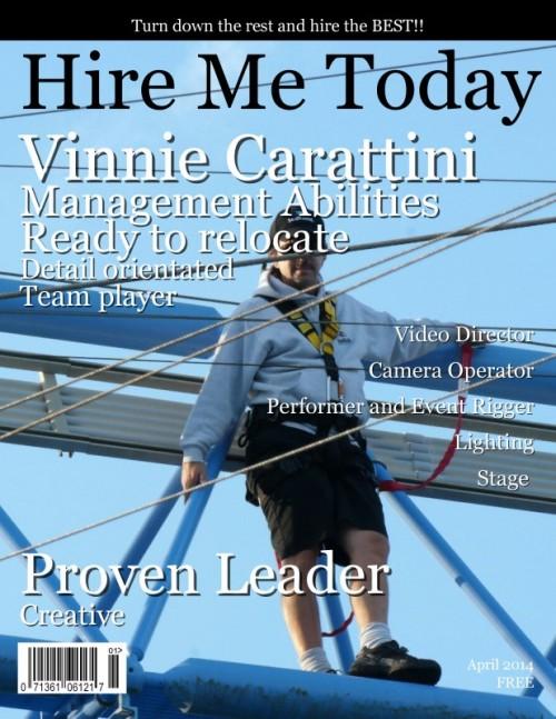Vinnie Carattini's Profile on Staff Me Up